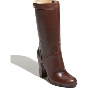 Nine West Amrit Brown Heeled Leather Boots size 9